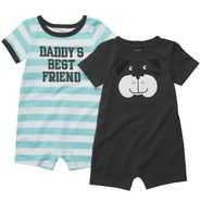 Carter's Newborn & Infants Boy's 2 Pk 'Daddy's Friend' Short Sleeve Romper Set at Sears.com