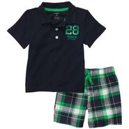 Carter's Toddler Boy's 2 Pc Polo Shorts 'Rookie' Plaid Set at Sears.com