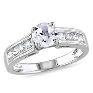 Amour 1 1/2 CT Created White Sapphire Fashion Ring in Sterling Silver at Sears.com