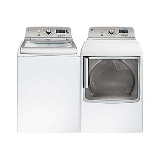 GE-5.0 cu. ft. Top-Load Washer & 7.8 cu. ft. Dryer Bundle