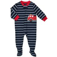 Carter's Infant and Toddler Boy's 1 Pc. Firetruck Striped Pajamas at Sears.com