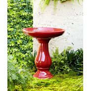 22in Ceramic Birdbath - Red at Kmart.com
