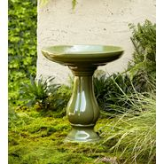 22in Ceramic Birdbath - Green at Kmart.com