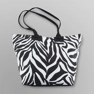 Joe Boxer Women's Spring Break Tote Bag - Zebra at Kmart.com