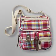 Joe Boxer Women's Canvas Crossbody Bag - Plaid at Kmart.com