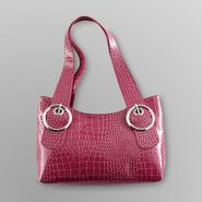 Attention Women's Circle Back Satchel - Mock Croc at Kmart.com