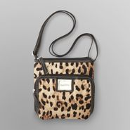 Jaclyn Smith Women's Middleton Nylon Crossbody Bag - Leopard Print at Kmart.com