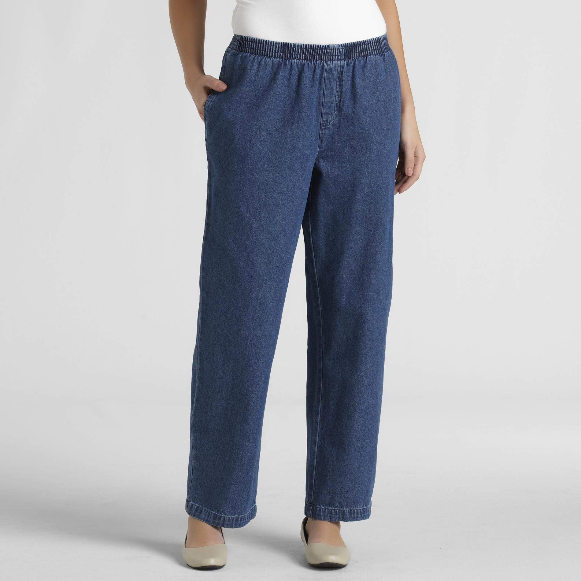 Basic Editions Women's Relaxed-Fit Jeans