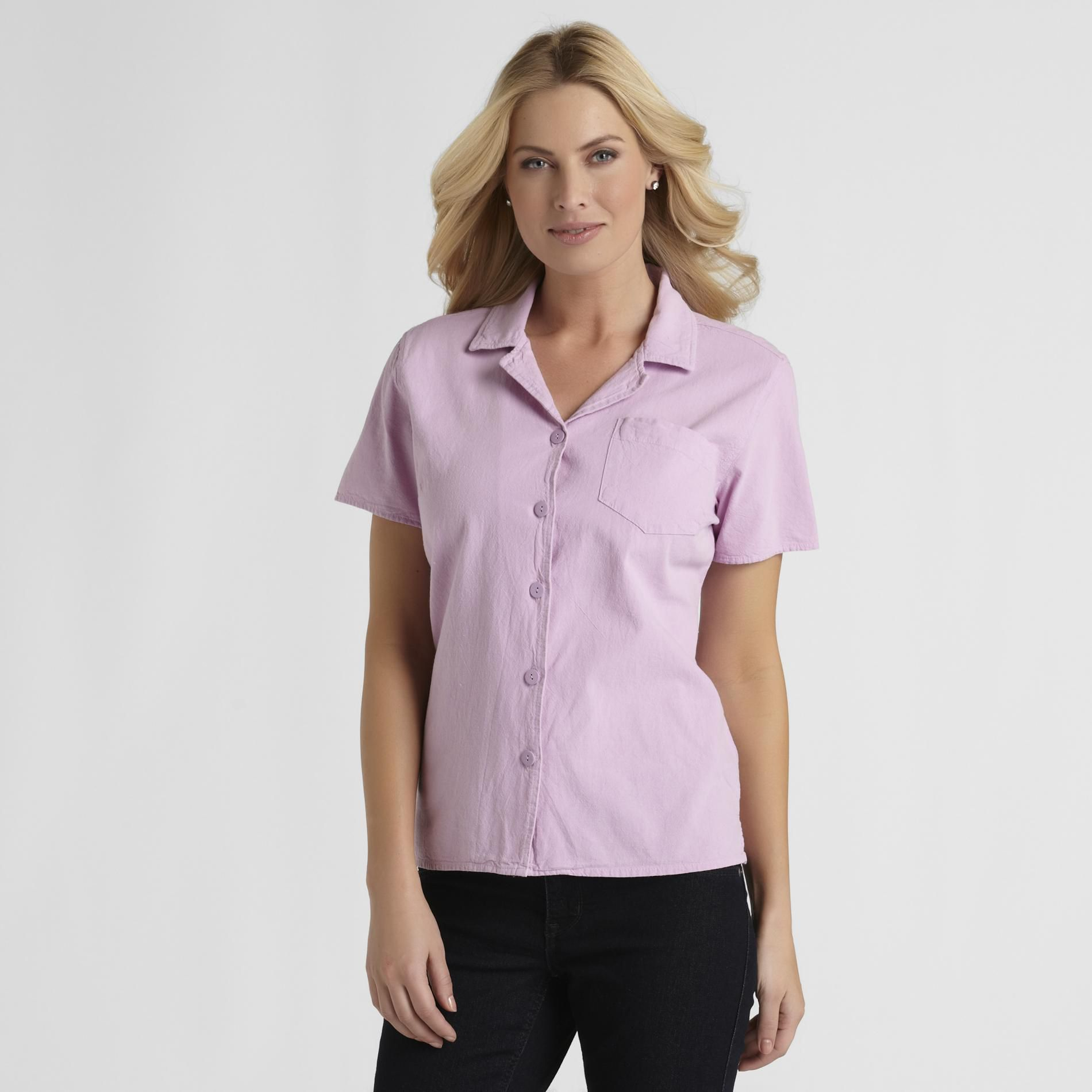 Basic Editions Women's Camp Shirt at Kmart.com