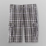 Route 66 Men's Messenger Shorts - Plaid at mygofer.com