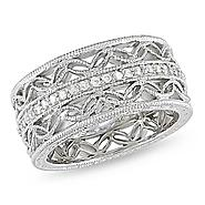 Amour Sterling Silver 1/6 CT Diamond Fashion Ring (I3) at Sears.com