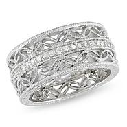 Amour Sterling Silver 1/6 CT Diamond Fashion Ring (I3) at Kmart.com