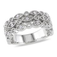 Amour Sterling Silver 1/10 CT Diamond Fashion Ring (GH I1;I2) at Kmart.com