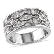 Amour Sterling Silver 0.07 CT Diamond Fashion Ring (GH I1;I2) at Kmart.com