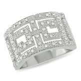 Amour Sterling Silver 1/5 CT Diamond Fashion Ring (GH I3) at mygofer.com