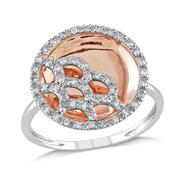 Amour Set in 10KM Pink & White Gold 1/4 CT Ring (G-H I2-I3) at Sears.com