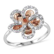 Amour Set in 10KM Pink & White Gold 1/5ct TDW Ring, (G-H I2-I3) at Kmart.com