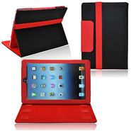 CrazyOnDigital Ionic 2-Tone Designer Leather Case with stand for New Apple iPad Mini 7.9 inch (Black/Red) at Kmart.com