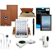 CrazyOnDigital 6 Item Bundle with Rotating Brown for New Apple iPad Mini 7.9 inch at Kmart.com