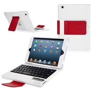 CrazyOnDigital Ionic Bluetooth Keyboard Tablet Stand Leather Case for New Apple iPad Mini 7.9 inch (White/ Red) at Kmart.com
