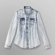 Dream Out Loud by Selena Gomez Junior's Acid-Wash Button-front Shirt at Kmart.com