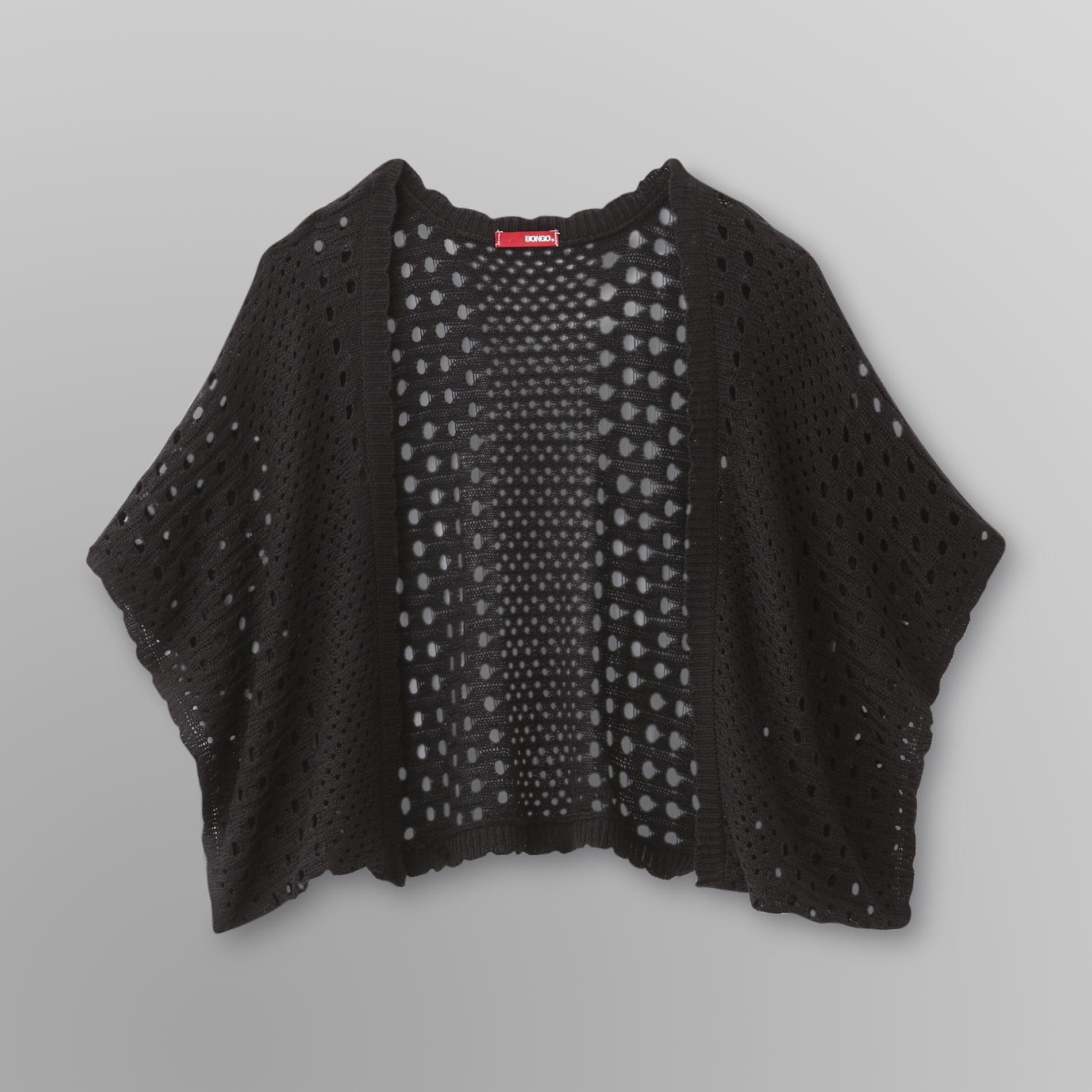 Bongo  Junior's Eyelet Knit Shrug