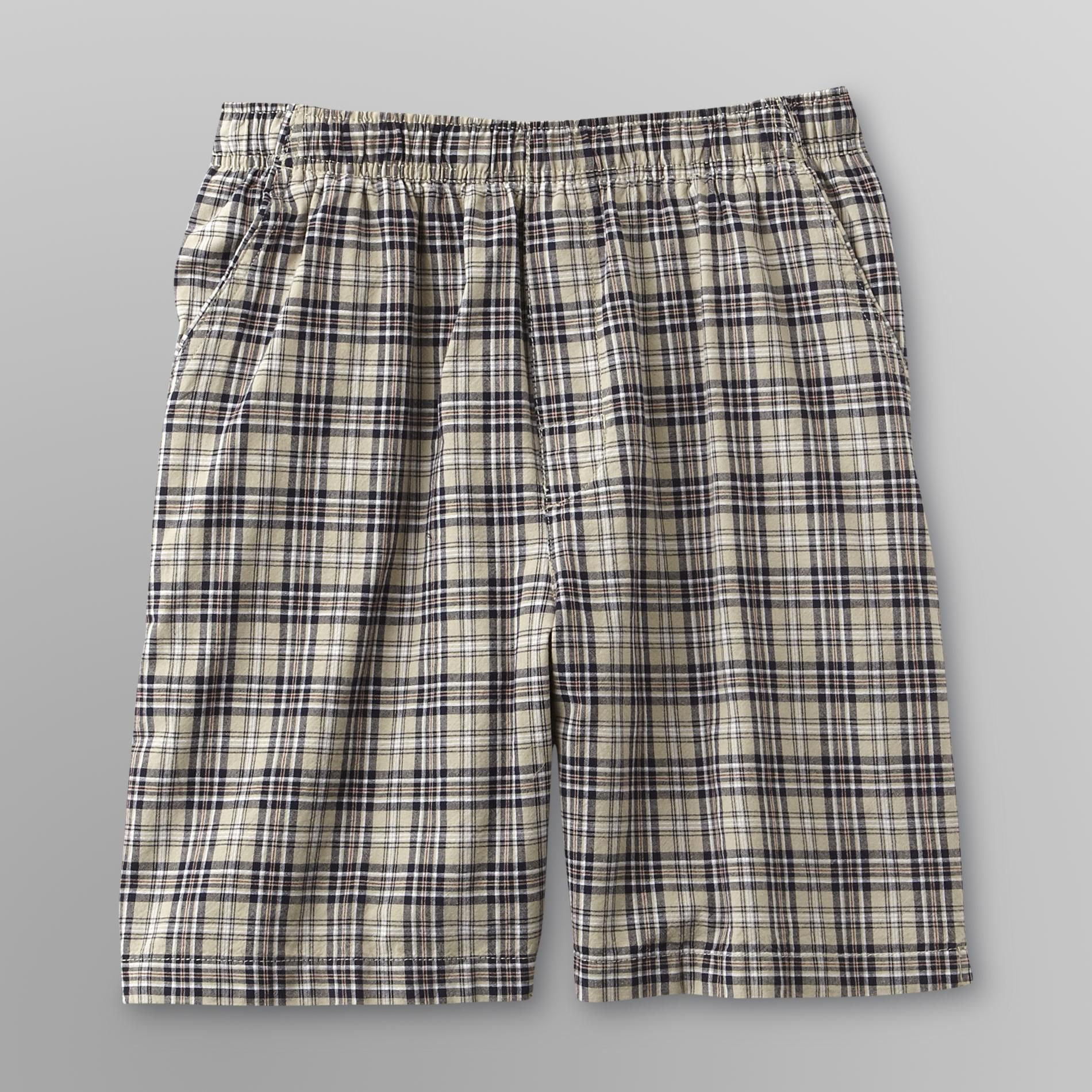 Basic Editions Men's Woven Shorts - Plaid at Kmart.com