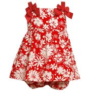 Ashley Ann Infant & Toddler Girl's Sleeveless Floral Print Shoulder Bow Dress at Sears.com