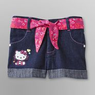 Hello Kitty Toddler Girl's Jean Shorts & Belt at Sears.com
