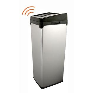 ITOUCHLESS iTouchless 14 Gallon Stainless Steel Automatic Touchless Trash Can with Space Saving Lid
