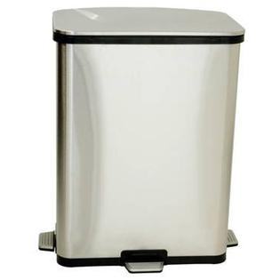 ITOUCHLESS iTouchless 13 Gallon Fingerprint-Proof Stainless Steel Step-Sensors Trash Can