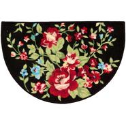 "30""x20"" Black Floral Slice Rug at Kmart.com"