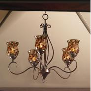 Garden Oasis Mosaic Votive Hanging Chandelier at Kmart.com