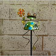 Garden Oasis Solar Garden Stake - Frog with Flower at Sears.com