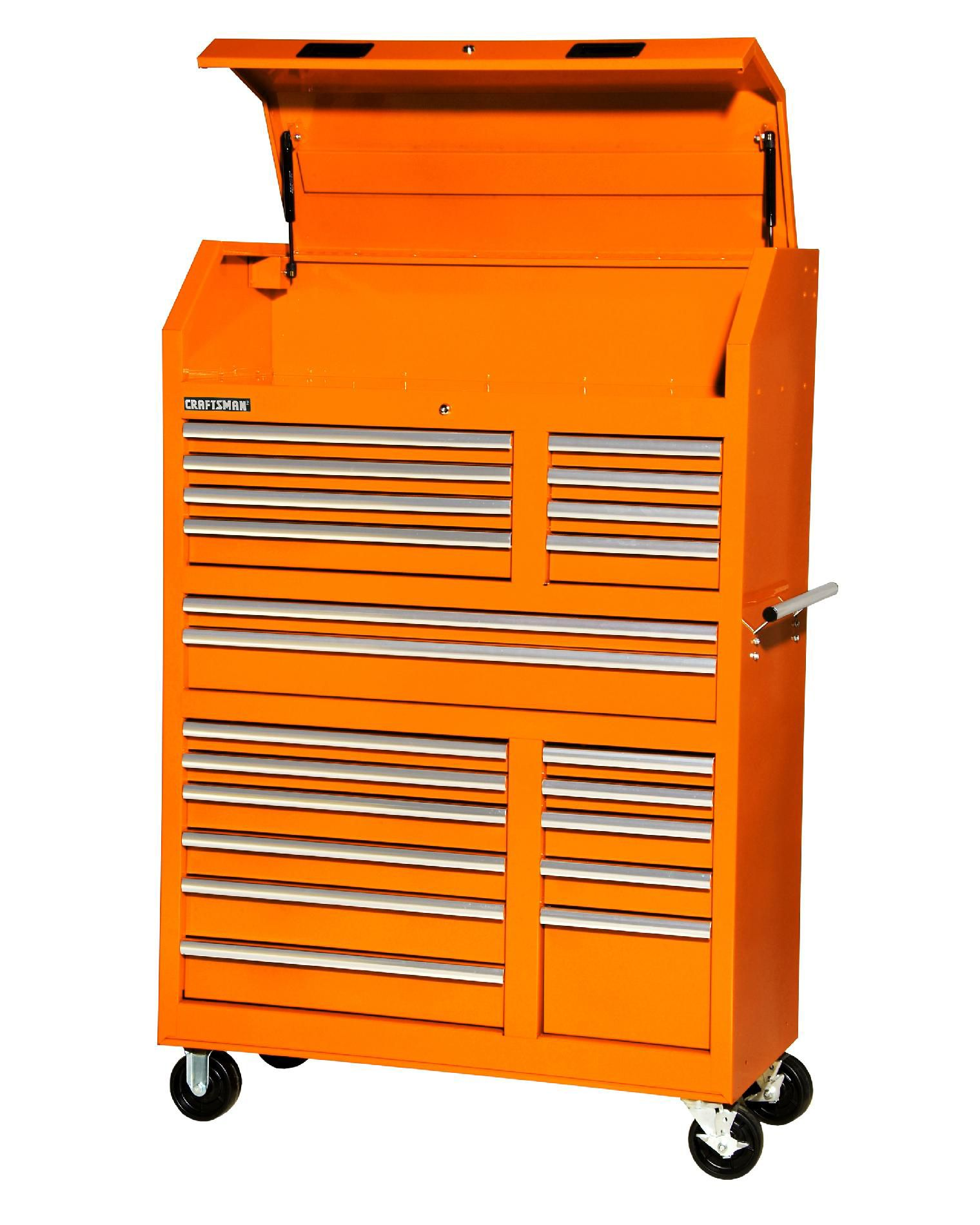 Craftsman  42'' 20-Drawer Ball Bearing Slides Wall Tower Combo Orange