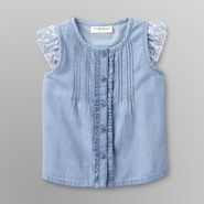 Toughskins Infant Girl's Pintuck Top - Chambray at Sears.com