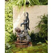 Garden Oasis Boy with Dog Fountain at Sears.com