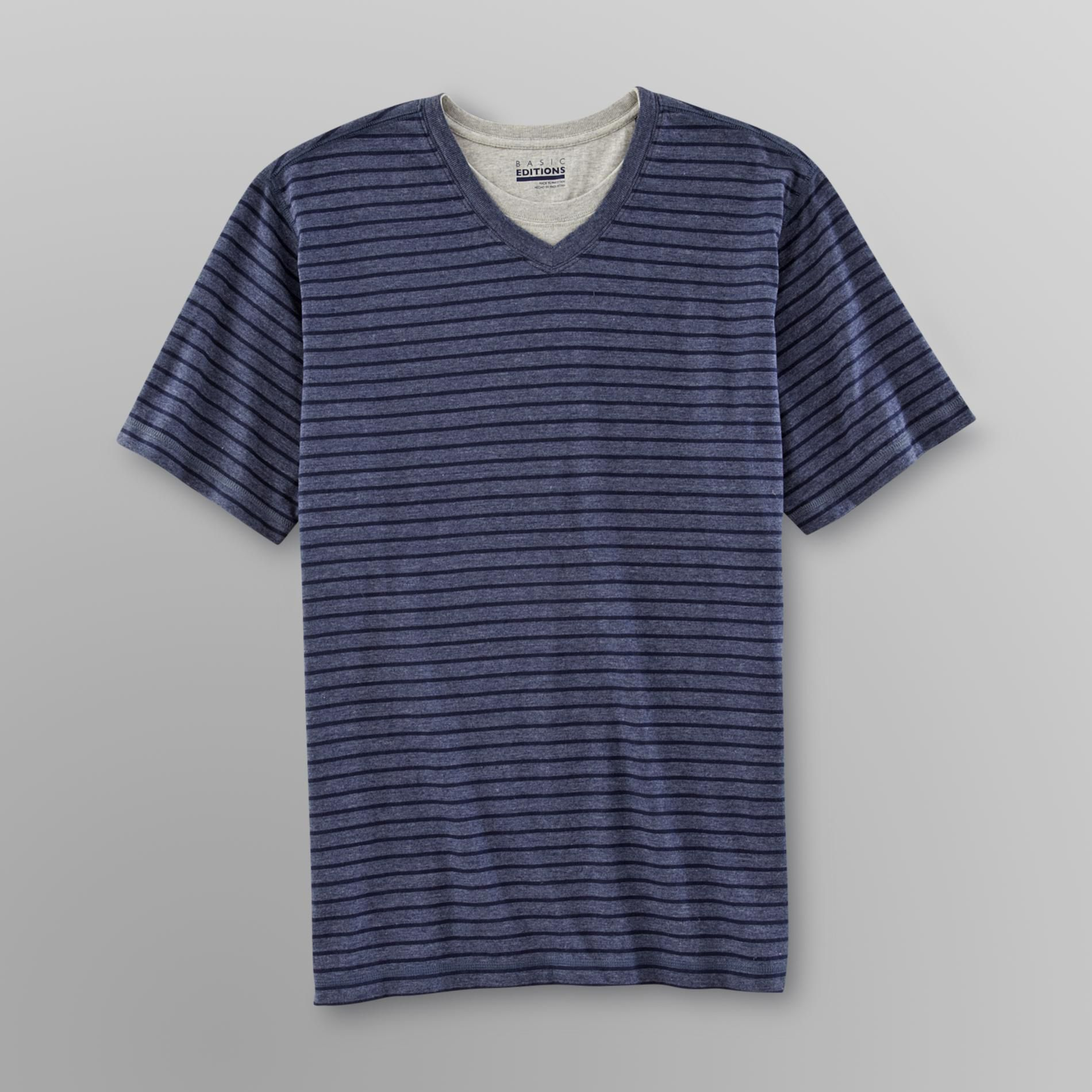 Basic Editions Men's T-Shirt with Inset at Kmart.com
