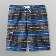 Joe Boxer Men's Striped Swim Trunks at Kmart.com