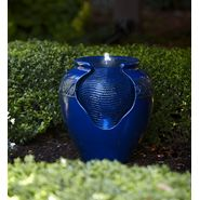 Garden Oasis Blue Glazed Leaf Fountain at Kmart.com
