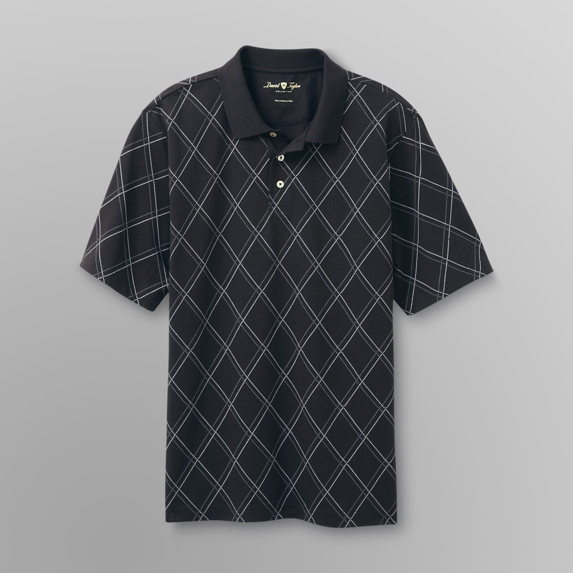 David Taylor Men's Big & Tall Polo Shirt - Plaid at Kmart.com