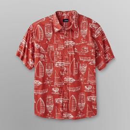 Basic Editions Men's Print Crosshatch Shirt - Nautical Print at Kmart.com
