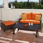 RST Outdoor Tikka™ Love Seat and Ottoman with Coffee Table at Kmart.com