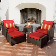 RST Outdoor Cantina™ 5-Piece Club Chairs and Ottomans Set at Kmart.com