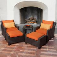 RST Outdoor Tikka™ 5-Piece Club Chairs and Ottomans Set at Kmart.com