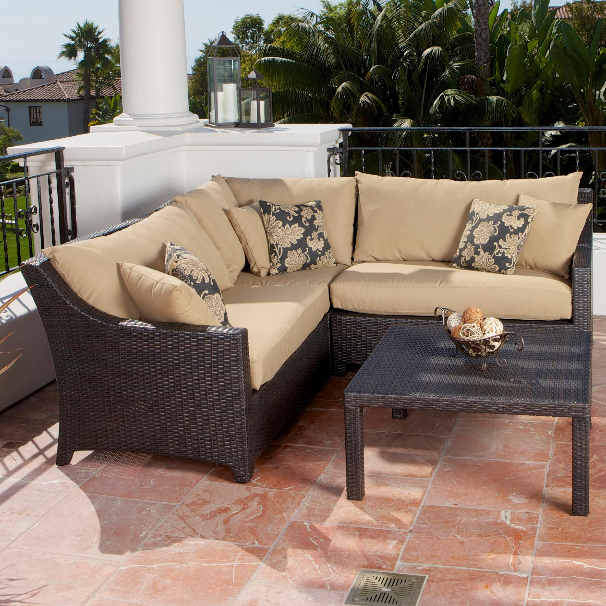 RST Brands Delano™ 4-Piece Corner Sectional Sofa and Coffee Table Set