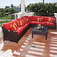 RST Outdoor Cantina™ 6-Piece Corner Sectional Sofa and Coffee Table Set at Kmart.com