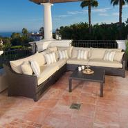 RST Outdoor Slate™ 6-Piece Corner Sectional Sofa and Coffee Table Set at Kmart.com