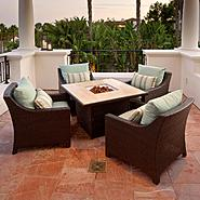 RST Outdoor Bliss™ 5-Piece Fire Table Seating Set at Sears.com