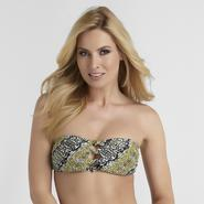Sofia by Sofia Vergara Women's Bandeau Swim Top - Animal Print at Kmart.com